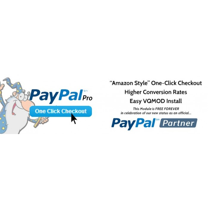 Opencart : 1 Click Checkout - Paypal Pro - Amazon Style